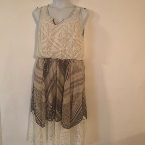 One World Live And Let Live Lace Flare Dress Sz L